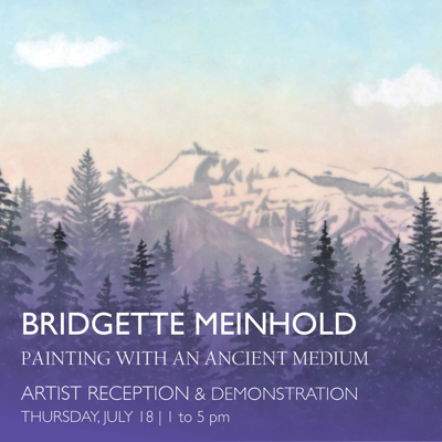 Bridgette Meinhold Encaustic Demonstrations & Show