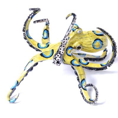 Barela Bronze Sculptures: Turtles, Octopus, Fish