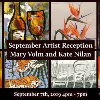 September Featured Artists: Mary Volm and Kate