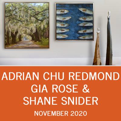 November Artwalk: Adrian Chu Redmond, Gia Rose & Shane Snider