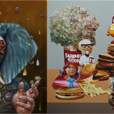 Contemplative Humor: Oil Paintings by Amanda Banker and Pat Hobaugh