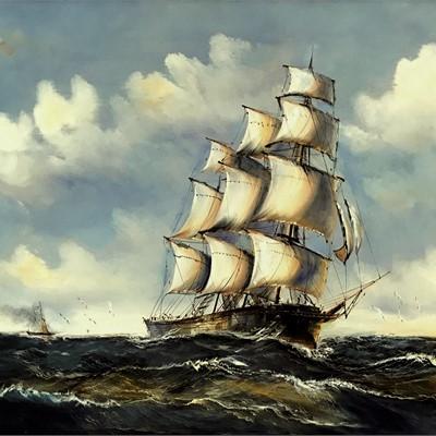 Ship Sea and Sky II