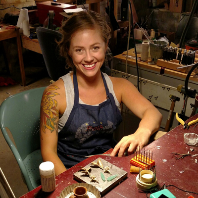 Metalsmith Magazine: Anna Johnson: Honoring Nature Through Adornment
