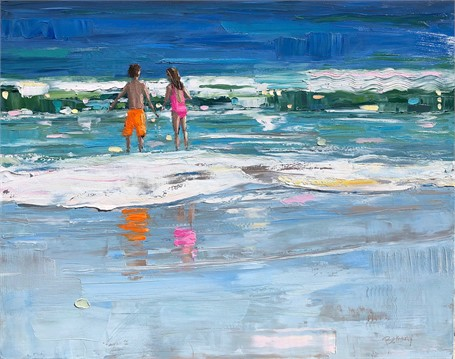 "Bethany Harper Williams | Take the Plunge | Oil on Canvas | 38"" X 48"" 