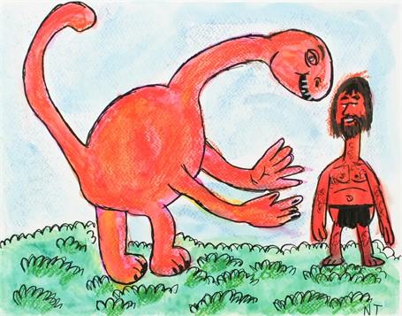 Man Meets Dinosaur