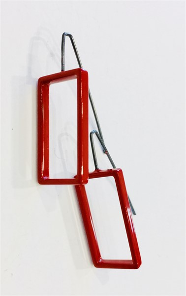 Earrings: Large Red Rectangle