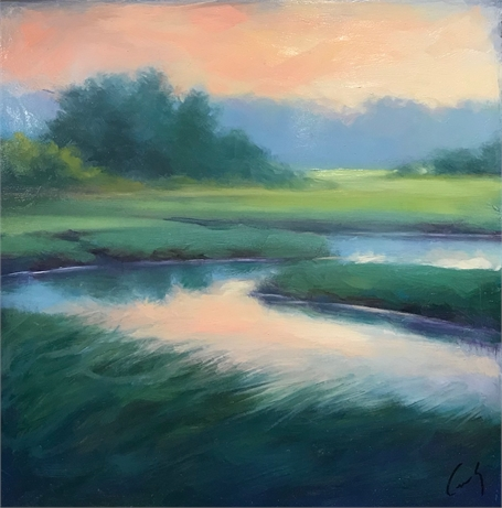 "Margaret Gerding | June Morning Haze | Oil on Panel | 10"" X 10"" 