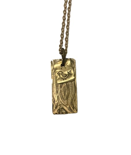 Necklace - Double Charm with Birdcage