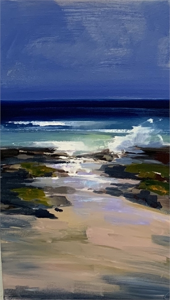 "Craig Mooney | Wave Break | Oil on Canvas | 30"" X 18"" 
