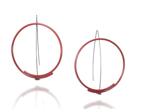 Earring: Large Red Circle
