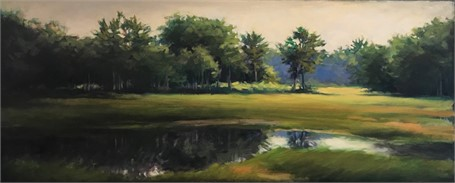 Trees Along the Bridle Path 16 x 40