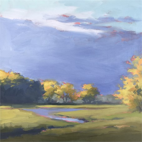 "Margaret Gerding | Morning Light-Day 6 | Oil on Panel | 8"" X 8"" 