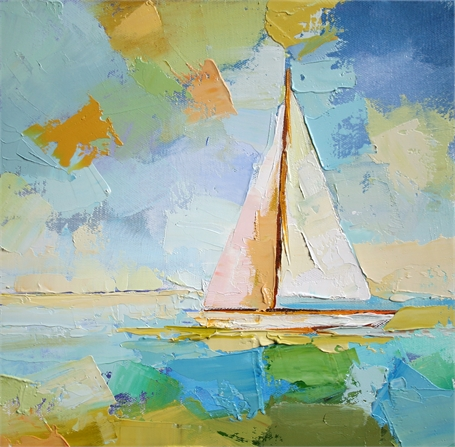 "Claire Bigbee | Staying the Course | Oil on Canvas | 12"" X 12"" 
