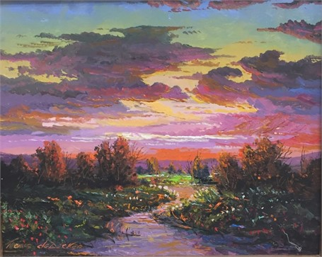 Sunset River Reflection