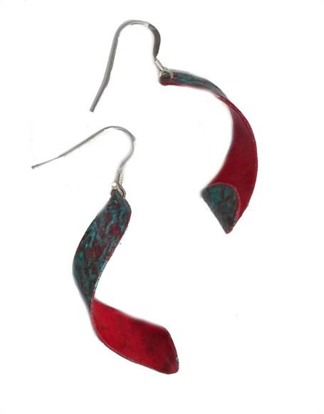 Earring - Handpainted Paper Curls