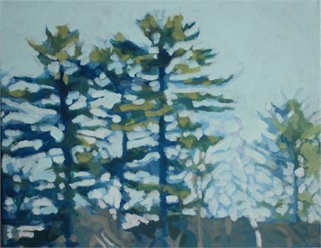 "Liz Hoag | Treeline VII | acrylic | 11"" X 14"" | Sold"