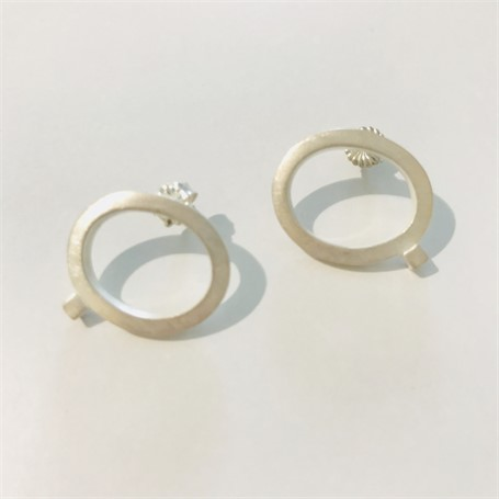 Earring: Small Square Stock Post