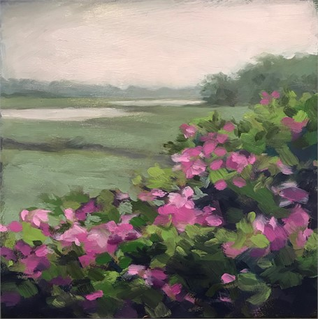 "Margaret Gerding | Morning Light-Day 24 | Oil on Panel | 8"" X 8"" 