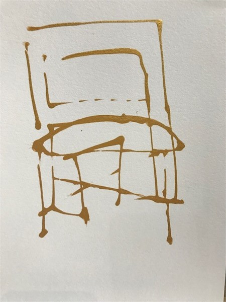Small Gold Chair Series