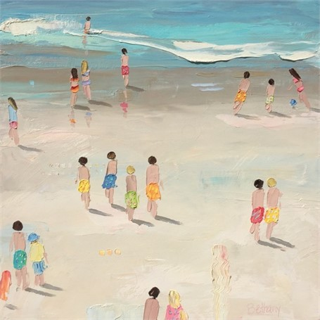 "Bethany Harper Williams | Salty Summer Days | Oil | 20"" X 20"" 