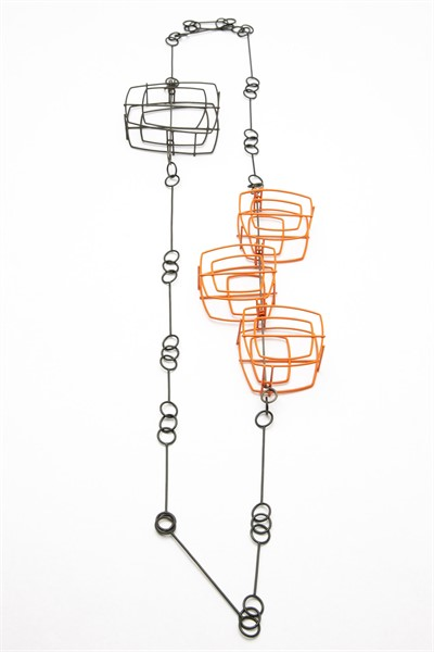 Necklace: Steel Chain with Structures