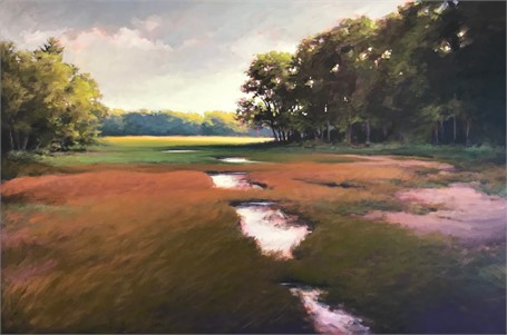 "Margaret Gerding | Distant Light | Oil on Canvas | 40"" X 60"" 