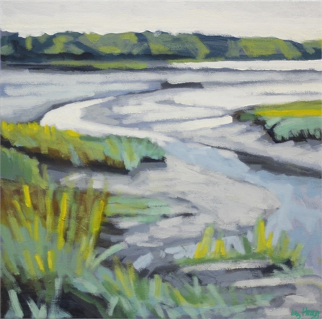 "Liz Hoag | Low Tide | Acrylic on Canvas | 12"" X 12"" 