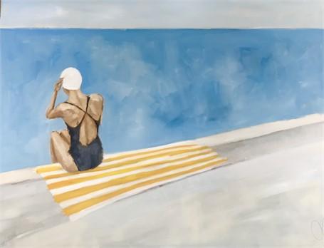 "Jill Matthews   The Swimmer   Oil on Canvas   36"" X 48""   Sold"