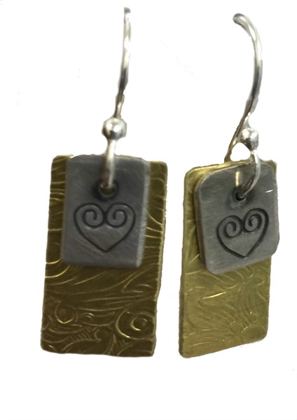 Earring - Double Charms Love Symbol