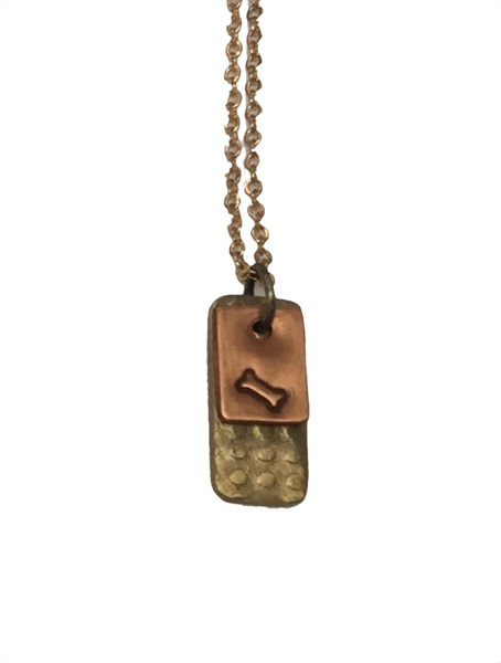 Necklace - Double Charm with Dog Bone