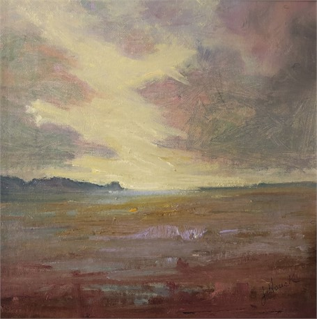 "Julie Houck | The Softness of Light | Oil on Linen Mounted on Panel | 8"" X 8"" 