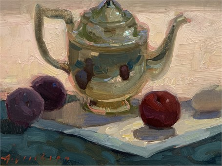 Teapot and Plums