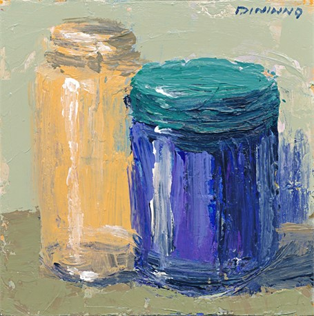 Still Life (Orange & Blue Jars)