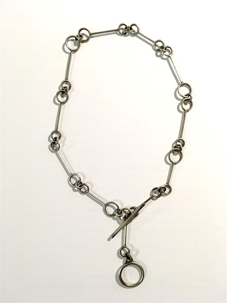 Necklace: Oxidized Sterling Silver Large Link Chain