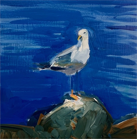 "Craig Mooney | Gull | Oil on Panel | 12"" X 12"" 