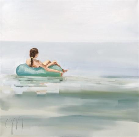 "Jill Matthews | Afloat | Oil on Canvas | 24"" X 24"" | Sold"