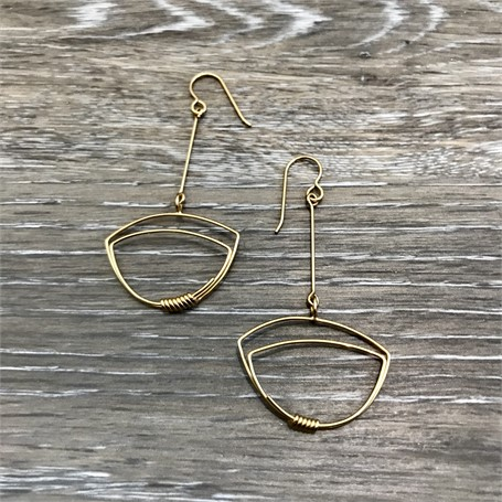 Gold Plated Earrings: Thin Line