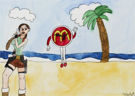 McDonalds at the Beach (FRAMED)