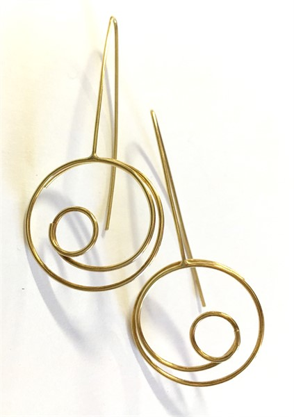 Earrings: 18kt Gold Circle in Circle