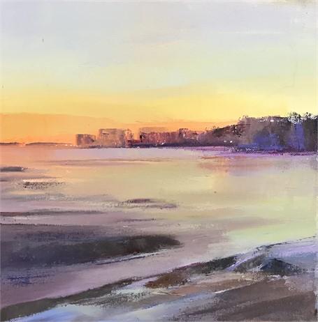 "Holly Ready | Sunrise | Oil on Canvas | 12"" X 12"" | Sold"