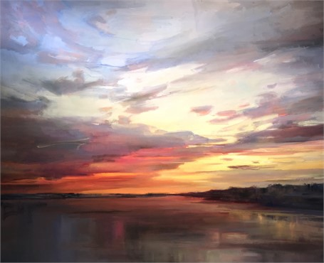 "Holly Ready | Sunset's Veil | Oil on Canvas | 48"" X 60"" 