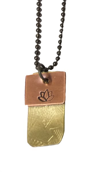Necklace - Double Charm with Lotus