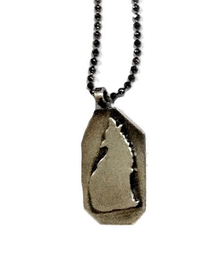 Necklace - Silhouette Coyote Silver