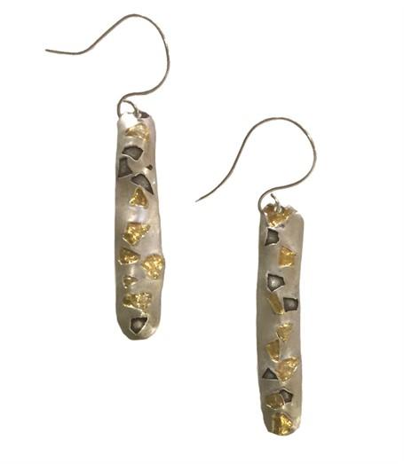 Earrings - 24K Gold with Fine Silver  K2540