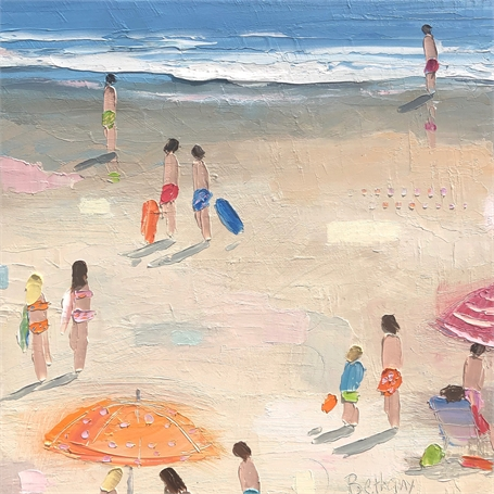 "Bethany Harper Williams | Beach Buddies | Oil on Canvas | 16"" X 16"" 