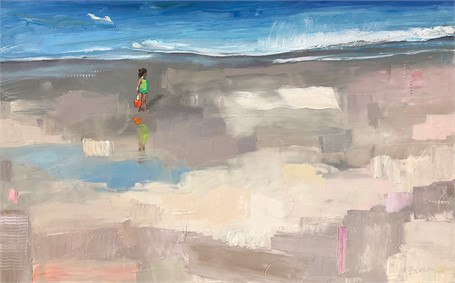"Bethany Harper Williams | The Sands of Time | Oil on Canvas | 40"" X 64"" 