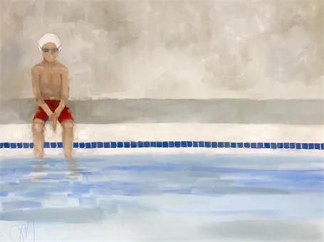 """Jill Matthews   Cal   Oil on Canvas   30"""" X 40""""   Sold"""