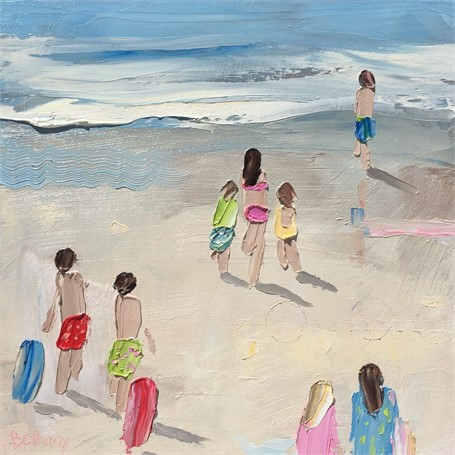 "Bethany Harper Williams | Red and Blue Boogie Boards | Oil | 12"" X 12"" 