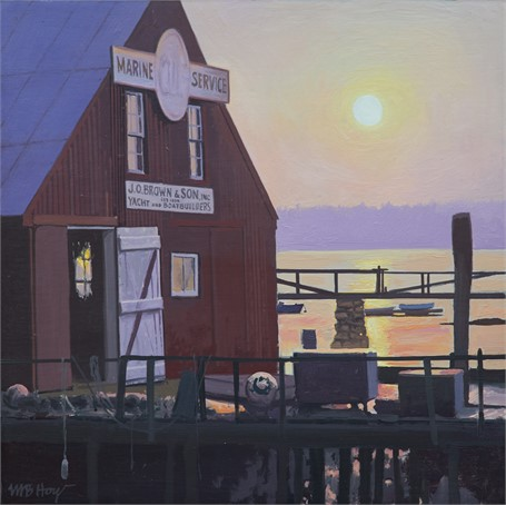 "William B. Hoyt | Sunrise at J.O. Brown's | Oil | 11"" X 11"" 
