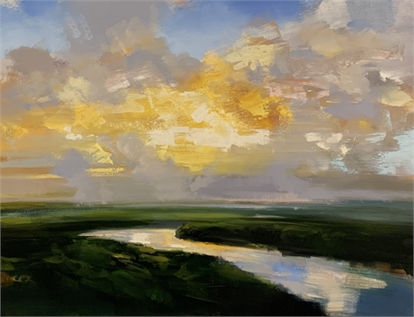 "Craig Mooney | Warm Glowing Sky | Oil on Canvas | 36"" X 48"" 